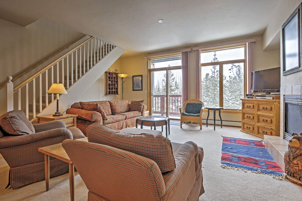 Relax in the bright & spacious living room