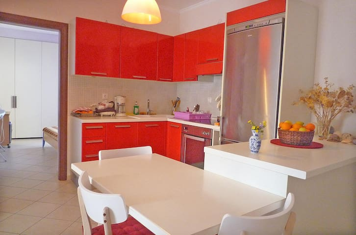 Bright apartment full equipped with large balcony - Nafplio - Daire