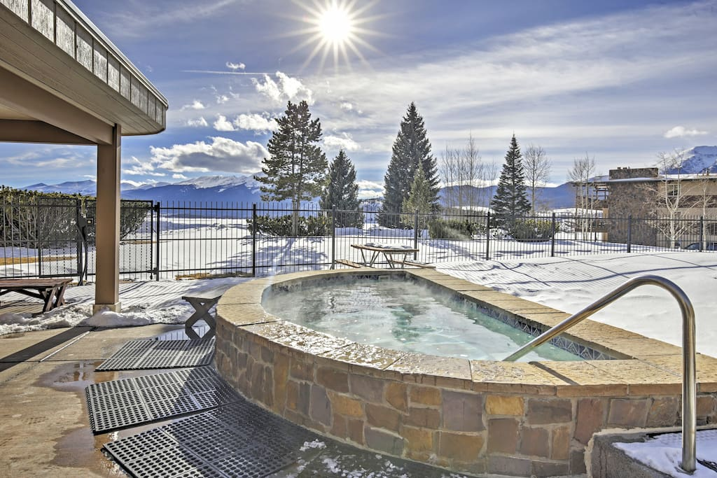 Warm up in the community hot tub.