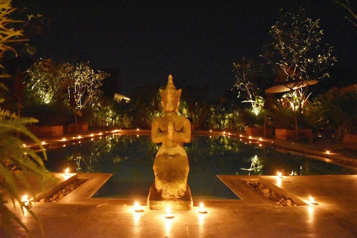 2 Pools-Enchanted Garden Bungalows #5+6-Sleeps 4