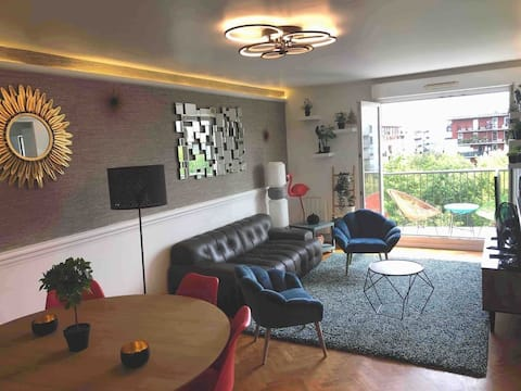 3 bedrooms + Safe parking in Paris-Stade de France