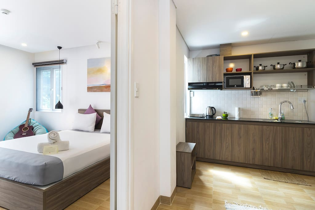 Spacious apartment with seperate bed room