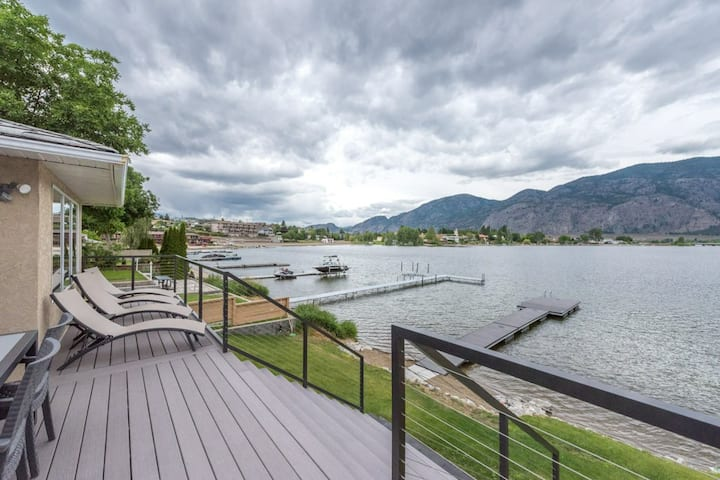 Renovated Beach Front Home on Lake Osoyoos!