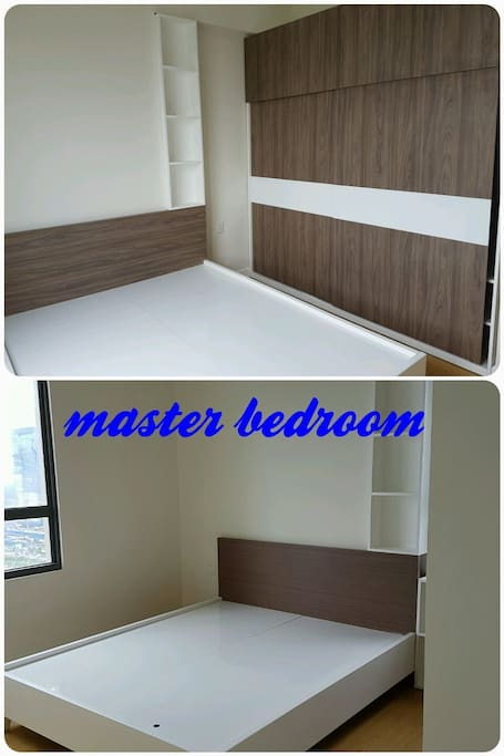Queen Size Bed and Wardrobe , Aircond , Bathroom