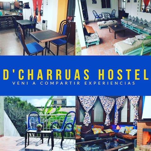2 CAMAS en hab compartida D' Charruas Hostel