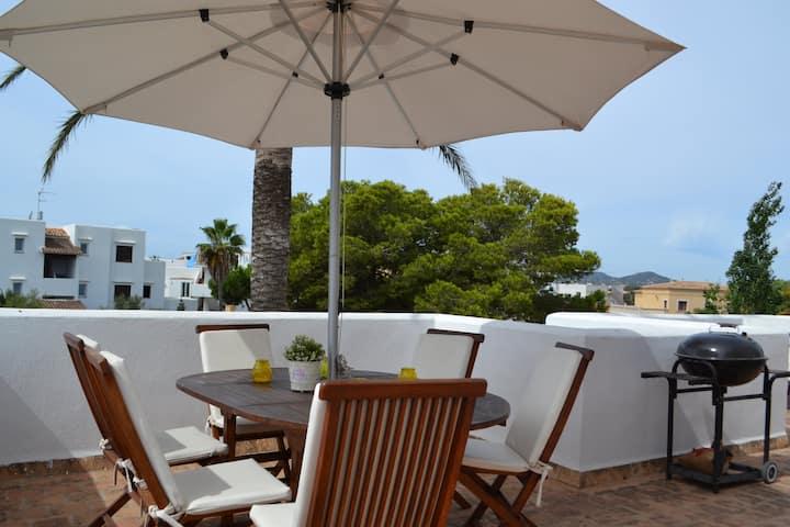 Attic with a big terrace