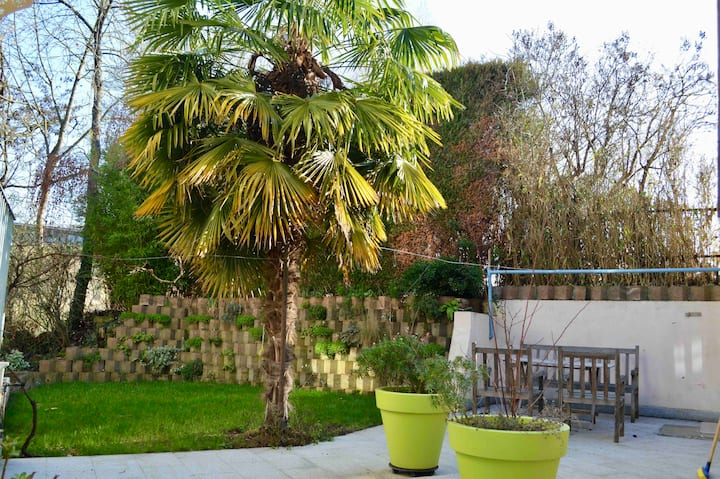 Cocon tropical Metz Gare **Jardin/Terrasses/Park**