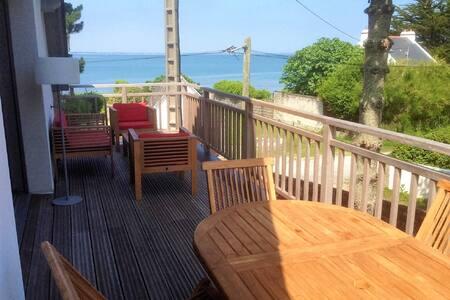 2 pièces duplex NEUF, terrasse, vue mer, 20m plage - 圣皮耶尔屈伊伯龙 (Saint-Pierre-Quiberon) - 公寓