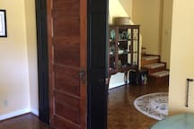 View from Living Room - With Inside Door Lock.