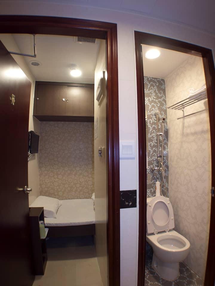 靠近旺角地鐵口經濟單人房-Sinlge Room for 1@ Mong Kok