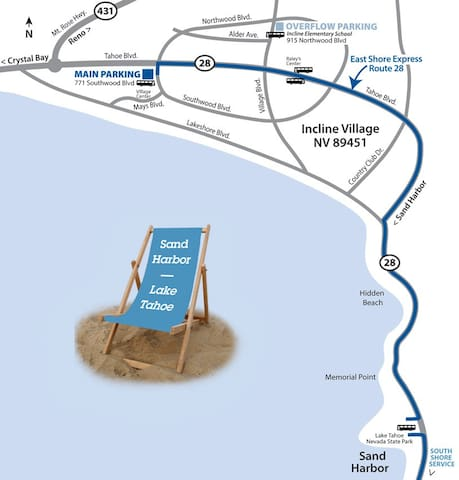 North Tahoe Express - Sand Harbor Beach shuttle! A must! Best beach and a shuttle to get there.