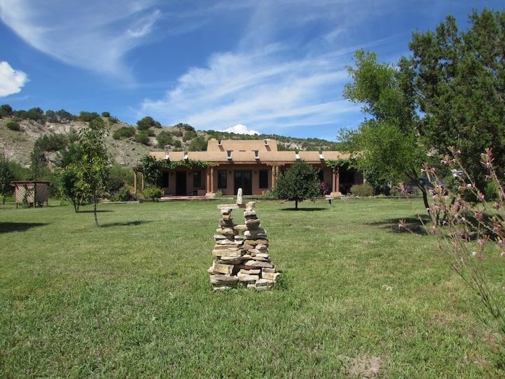 Southwestern style adobe home