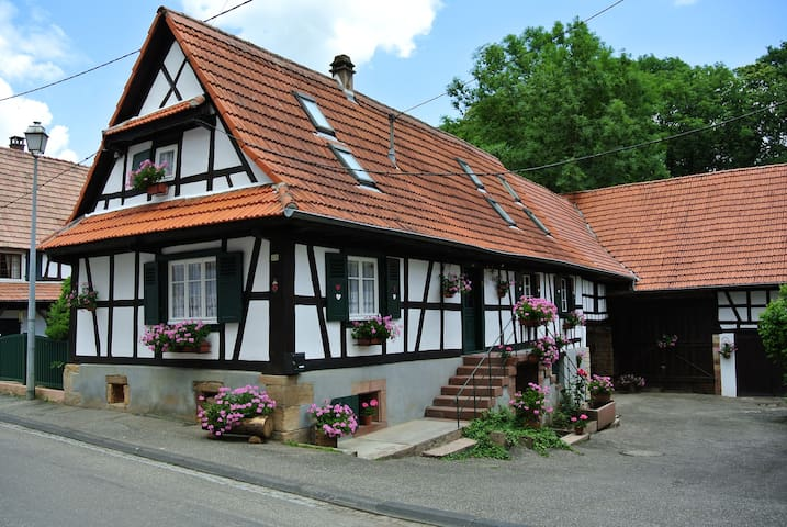 Maison typique alsacienne