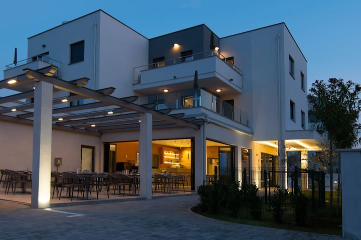 PUNTA BLU Aparthotel - with Pool, 350m from beach