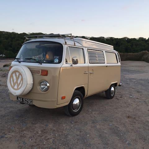 """Vintage VW Camper-van  """"Jemima""""1969- Surfmobile"""