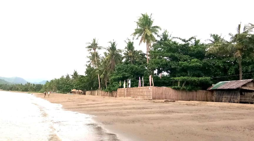 Nearby Beach. Kalangganam Island is not the only place to swim in this area. This is San Juan Beach and it is 5 minutes from our house by car.