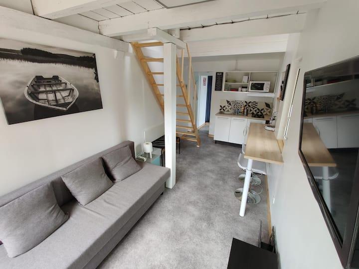 Studio Mezzanine au calme & au vert, Ville & Forêt