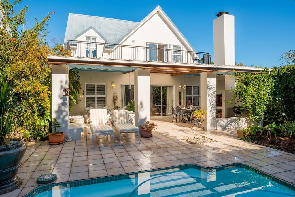 Great patio, braai and pool area