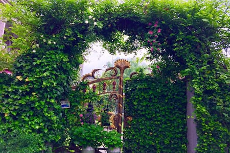距离鲁迅故里,沈园,仓桥直街东胡十几分钟车程的花园别墅【Ailishe】爱丽舍绍兴