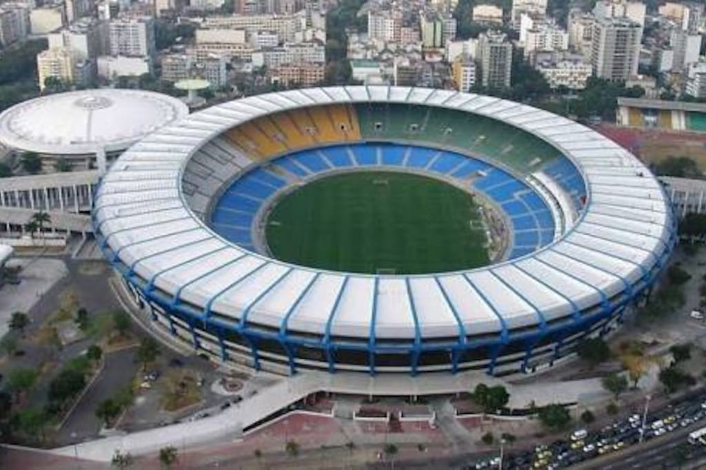 The Maracana stadium just 20 minutes by walking.