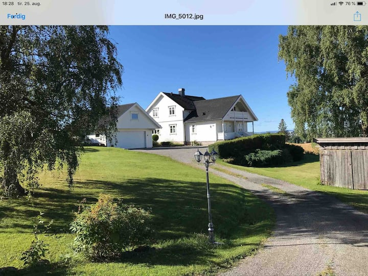 Beautiful home close to Hamar, yet secluded