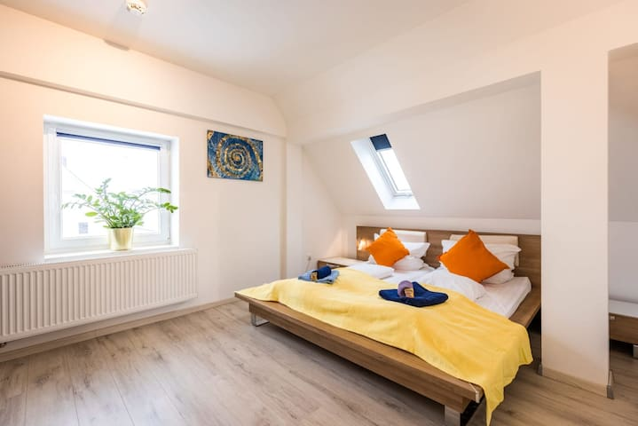 Spacious & Bright: King Bed, Kitchen, Free Parking