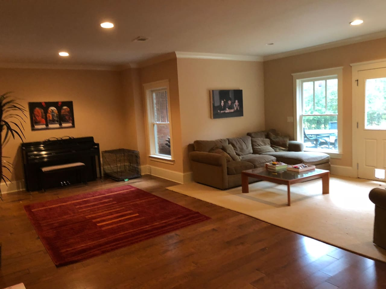 Terrace Apartment family room - French doors lead to private patio