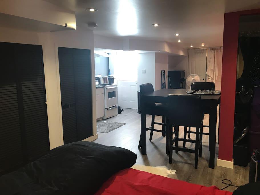 kitchen/ table/back door