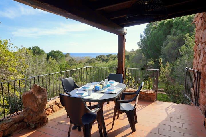 Villa 128 Palombaggia sea view beach walk 3 ***