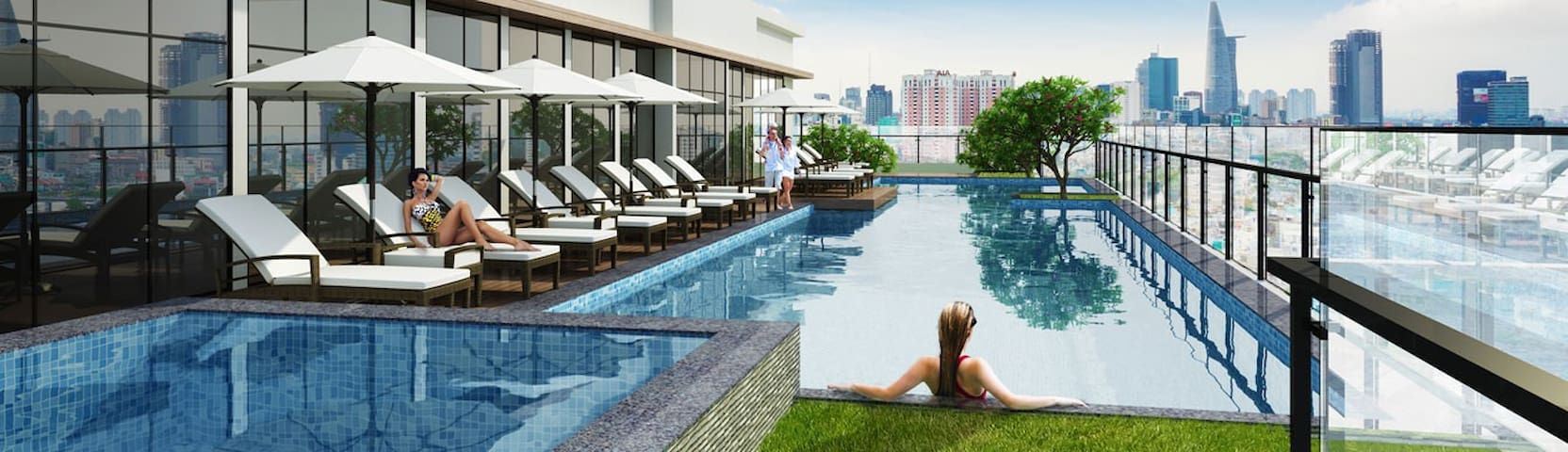 AIRBNB PLUS QUALITY-Luxury Condo-5Mins to Benthanh