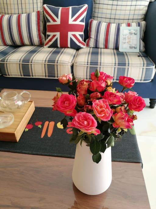 我家的第一束多层玫瑰