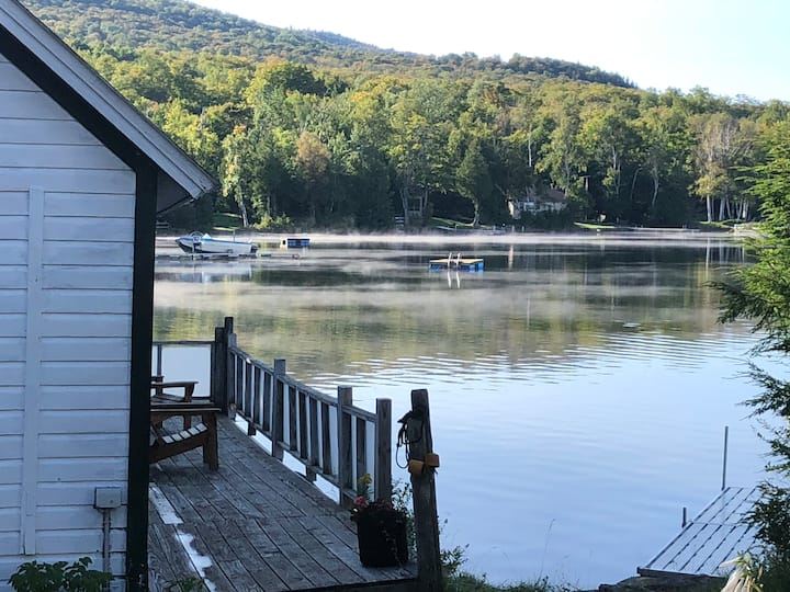 Unique Boat House on Chazy Lake in the Adirondacks