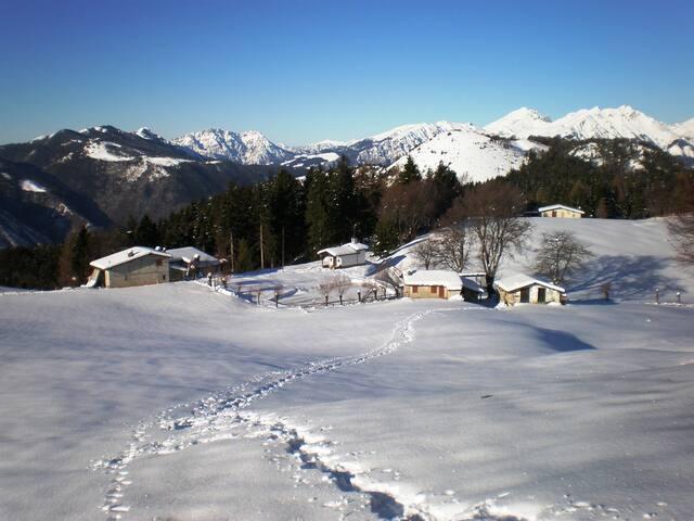 """Bossico d'inverno località """"colle S.Fermo"""" foto panoramica"""