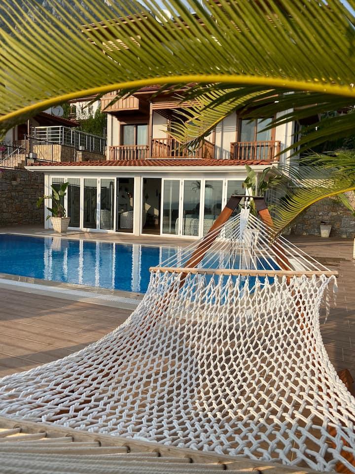 Akyaka luxury villa with sea view and Pool