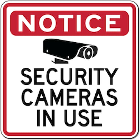 Security Cameras in use.
