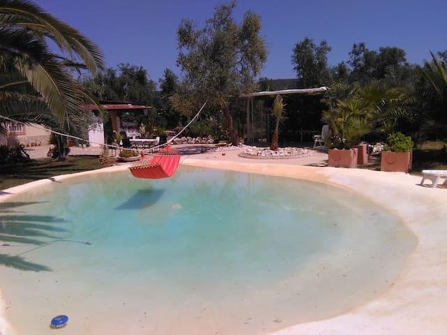 Villa Oleandro Pergola mit Pool