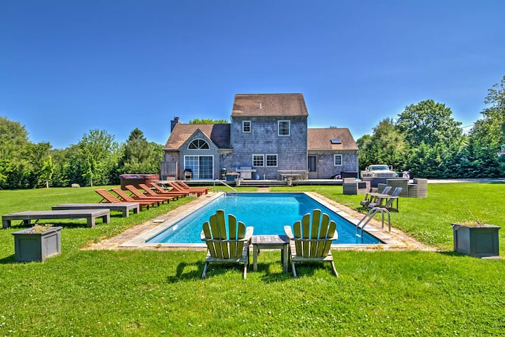 East Hampton House w/Private Pool - 5 min to Beach
