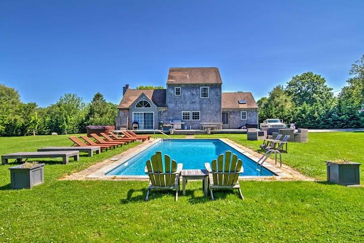 East Hampton House w/Private Pool - 5 min to Beach