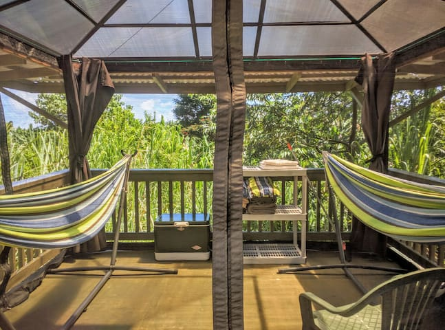 Two Adjacent Private Glamping Hammock Cabanas