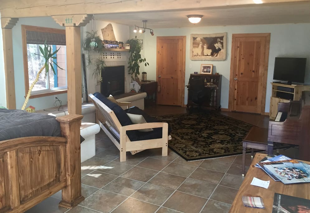 Master suite is private, has a separate entrance, and has a lockable door separating it from the rest of the house.