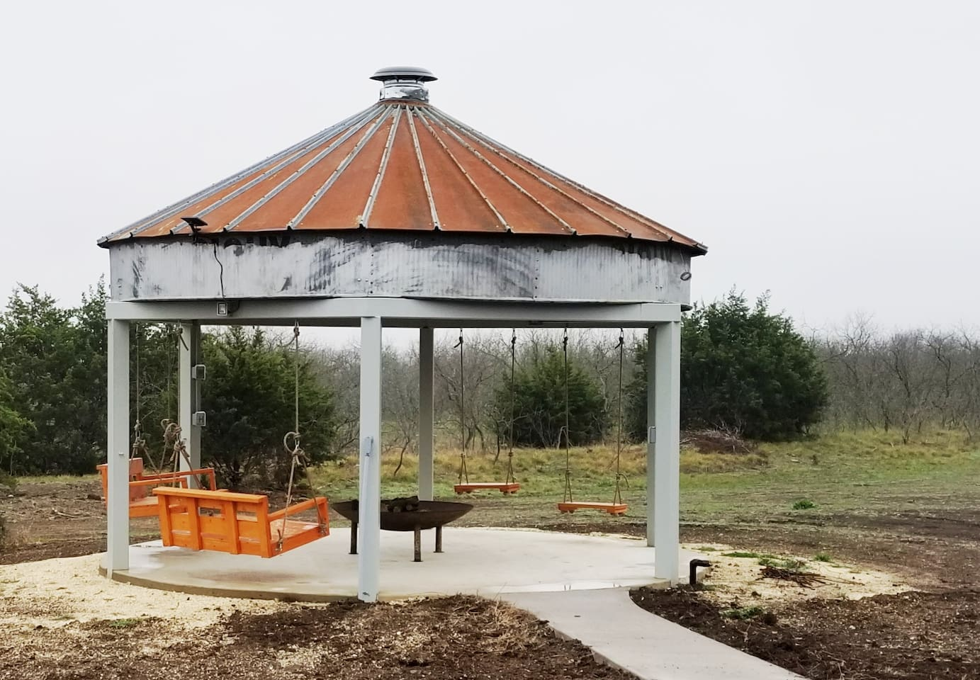 Gazebo with Swings and Fire pit - Shared Space