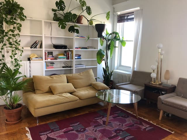 Sunny, bright apartment in historic neighborhood