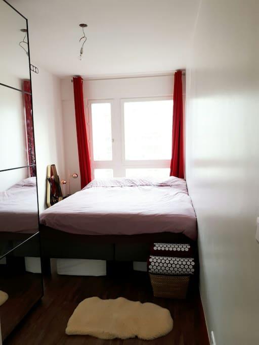 Chambre 1 - 9.5 m2 -  lit double  200x160 cm