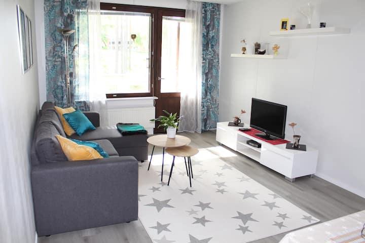 New bright star apartament in center Siilinjärvi