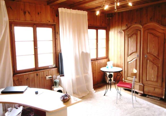 Wohnung im Holzhaus mit Blick über den Ort - Stockach - Leilighet