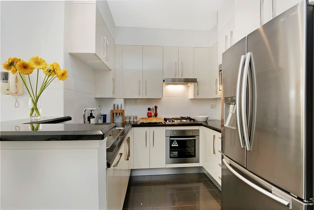 Clean modern kitchen with all you need