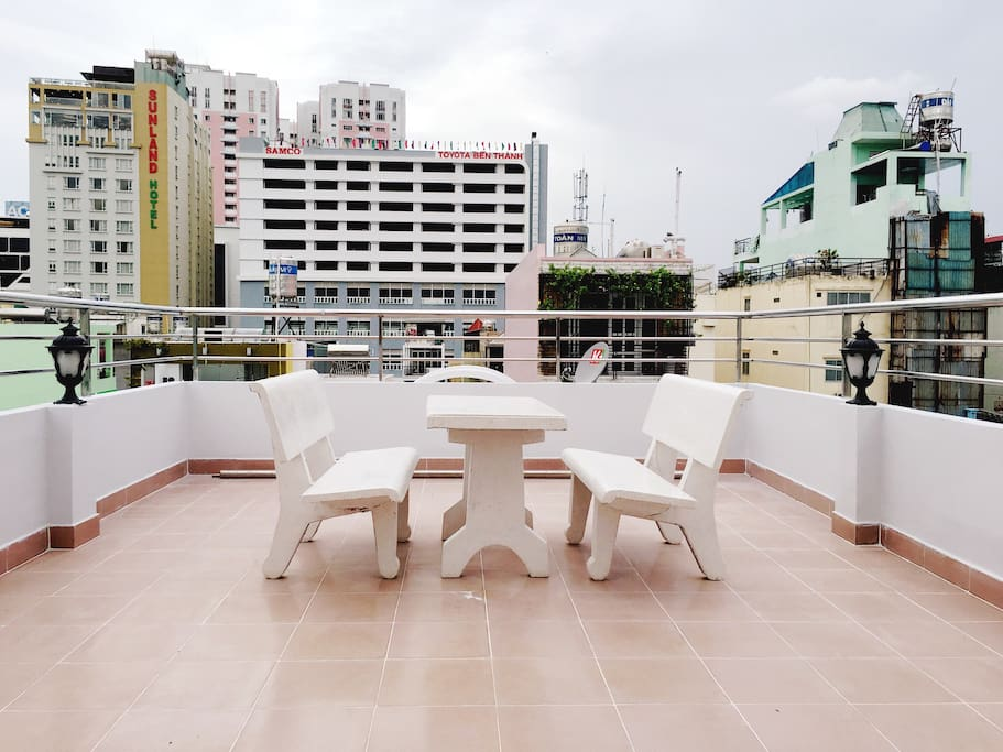 You can also use the terrace city view on 4th floor