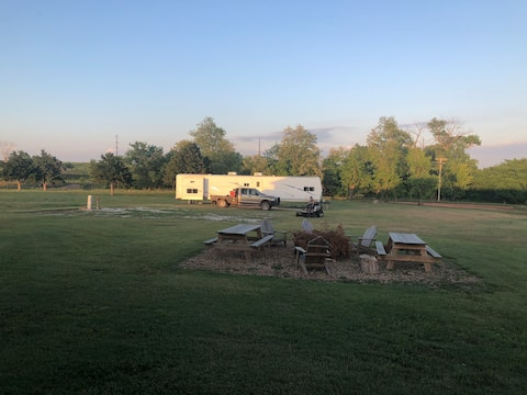 Campsites with Full Hook Ups overlooking GypHills