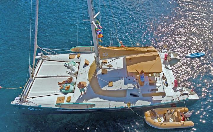 Private Sailing Yacht Catamaran Quest in St. Croix
