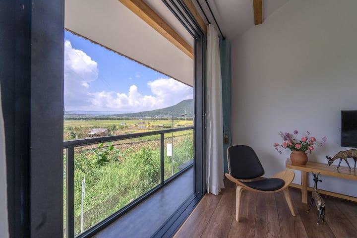 【蓝溪·美宿】湿地-田园-振鹭景观房 大床房+早餐 入住免费接机